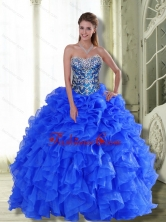 Beautiful Strapless 2015 Quinceanera Dresses with Beading and Ruffles QDDTA45002FOR