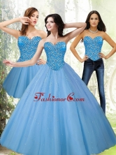 Beautiful Sweetheart Beading Blue Quinceanera Dresses for 2015 SJQDDT12001FOR