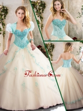 Beautiful Sweetheart Quinceanera Dresses with Appliques SJQDDT213002F