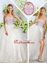 Beautiful Sweetheart Quinceanera Dresses with Beading and High Slit SJQDDT247002FOR