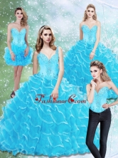 Beautiful Sweetheart Quinceanera Dresses with Beading and Ruffled Layers SJQDDT25001FOR