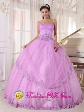 Canete Chile Discount Lavender Quinceanera Dress Taffeta and Tulle Appliques with sweetheart for 2013 Fall Quinceanera party Canete PDZY605Chile