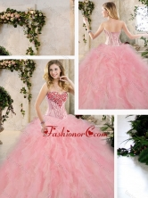 Classical Beading and Ruffles Quinceanera Dresses in Multi Color SJQDDT235002-1FOR