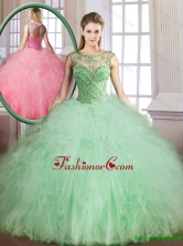 Classical Sweetheart Quinceanera Gowns with Beading and Ruffles SJQDDT167002FOR