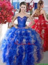 Elegant Applique and Ruffled Big Puffy Quinceanera Dress in Organza YYPJ012FOR