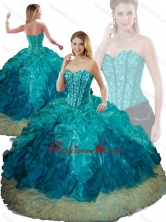 Elegant Beading and Ruffles Ball Gown Detachable Quinceanera Dresses SJQDDT200002FOR