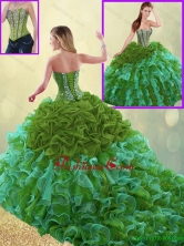 Exquisite Sweetheart Quinceanera Gowns with Beading and Ruffles SJQDDT193002-6FOR