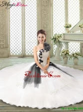 Fall Popular Ruffles and Appliques Sweet 16 Gowns with One Shoulder YCQD011-5FOR