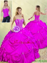 Fashionable Sweetheart Beading Quinceanera Dresses in Fuchsia SJQDDT185002-8FOR
