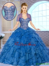 Gorgeous Beading and Ruffles Quinceanera Gowns with Sweetheart SJQDDT163002C-1FOR