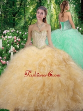 Gorgeous Sweetheart 2016 Quinceanera Dresses with Beading and Ruffles SJQDDT306002FOR