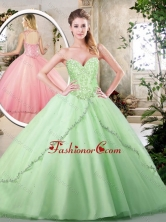 Hot Sale Ball Gown Quinceanera Dresses with Appliques SJQDDT222002-2FOR