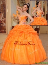 New Arrivals Appliques Sweetheart Quinceanera Dresses in Orange Red  QDZY350BFOR