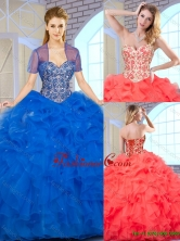 New Arrivals Ball Gown Sweet 16 Dresses with Beading and Ruffles SJQDDT163002E-2FOR