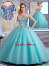 New Style Beading Sweetheart Quinceanera Dresses in Aqua Blue   SJQDDT160002FOR