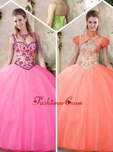 New Style Straps Quinceanera Dresses with Straps for 2016 SJQDDT203002-2FOR