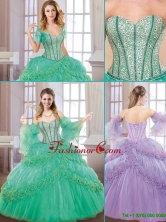 New Style Sweetheart Quinceanera Gowns with Hand Made Flowers SJQDDT179002FOR