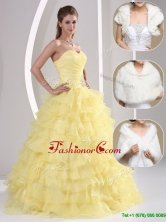 Popular Beading and Appliques Sweetheart Quinceanera Dresses  MQR50FFOR