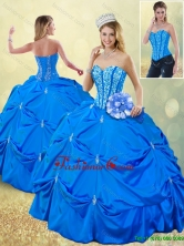 Popular Fall Blue Quinceanera Gowns with Pick Ups SJQDDT185002-6FOR