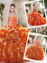 Popular Multi Color Quinceanera Dresses with Beading and Ruffles SJQDDT231002-2FOR