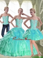 Pretty A Line 2015 Summer Quinceanera Dresses with Beading SJQDDT55001FOR