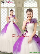 Pretty Appliques and Ruffles Quinceanera Gowns in Multi Color YCQD011FOR