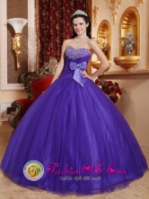 Santo Domingo Chile Fall Exquisite Beading Best Purple Quinceanera Dress For 2013 Sweetheart Tulle and Tafftea Style QDZY598FOR