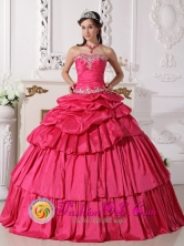 Villa Los Almendros Chile Fall 2013 Hot Pink Sweetheart Beading and Ruch Detachable Quinceanera Gowns Style QDZY750FOR
