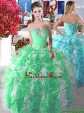Wonderful Organza Big Puffy Sweet 16 Dress with Beading and Ruffles YYPJ006FOR