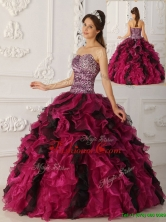 Luxurious  Multi Color Ball Gown Floor Length Quinceanera Dresses  QDZY009AFOR