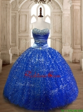 Cheap Beaded Royal Blue Quinceanera Dress in Sequins SWQD172-1FOR