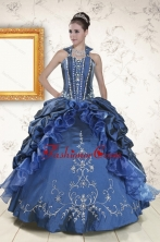 Classical Sweetheart Navy Blue Quinceanera Dresses with Beading XFNAOA62FOR