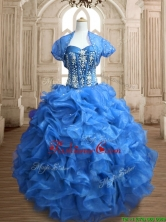 Discount Big Puffy Organza Quinceanera Dress with Beading and Ruffles SWQD153-2FOR