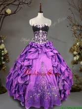 Exclusive Big Puffy Beading and Pick Ups Quinceanera Dress in Taffeta SWQD095FOR