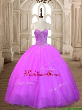 Fashionable Beaded Lilac Big Puffy Quinceanera Dress in Tulle SWQD167-4FOR