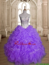 Fashionable Big Puffy Beading and Ruffles Quinceanera Dress in Purple SWQD149-2FOR