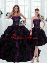 Gorgeous 2015 Strapless Multi Color Ruffled Quinceanera Dresses with Beading ZYLJ08TZFOR