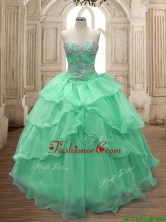 Gorgeous Big Puffy Sweet 16 Dress with Beading and Ruffled Layers SWQD158-2FOR