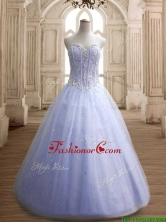 Hot Sale Beaded Bodice Tulle Quinceanera Dress in Lavender SWQD146-3FOR