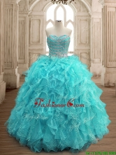 Hot Sale Big Puffy Sweet 16 Dress with Beading and Ruffles SWQD156-6FOR