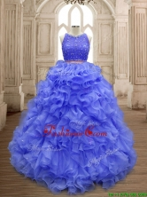 Latest Scoop Lavender Sweet 16 Gown with Beading and Ruffles SWQD160-4FOR