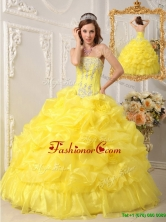 Luxurious Ball Gown Strapless Floor Length Quinceanera Dresses QDZY054AFOR