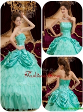Luxurious  Ball Gown Strapless Ruffles Quinceanera Dresses for 2016  QDZY005BFOR