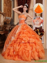 Luxurious Orange Red Ball Gown Quinceanera Dresses with Beading QDZY308BFOR