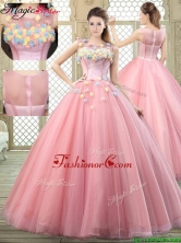 Luxurious Scoop Quinceanera Dresses with Zipper Up YCQD073FOR