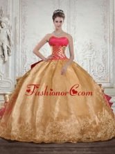 Luxurious Strapless Multi Color Quinceanera Dress with Beading and Embroidery QDZY429TZFXFOR