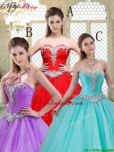 Luxurious Sweetheart Brush Train Quinceanera Dresses with Beading YCQD057FOR