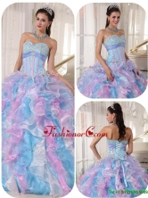 Luxurious Sweetheart Ruffles and Appliques Quinceanera Dresses PDZY334BFOR