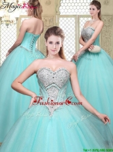 Modest Sweetheart Beading Quinceanera Dresses for Summer YCQD076FOR