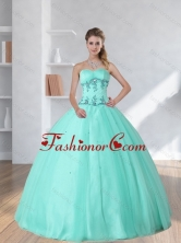 Perfect Appliques and Beading Sweetheart 2015 Dress for Quince QDZY590TZFXFOR